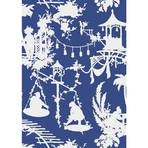 South Sea Wallpaper in Navy