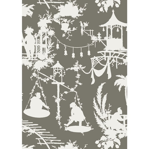 South Sea Wallpaper in Grey