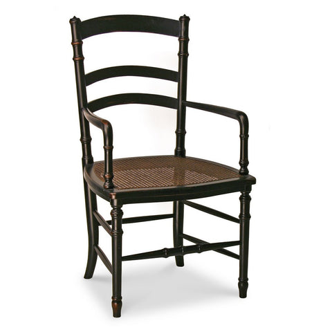 Redford House Swedish Cane Armchair in Black