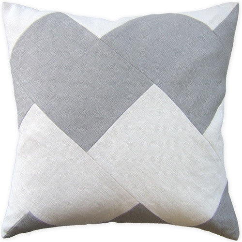 "Ryan Studio Slubby Chevron 22"" Pillow"