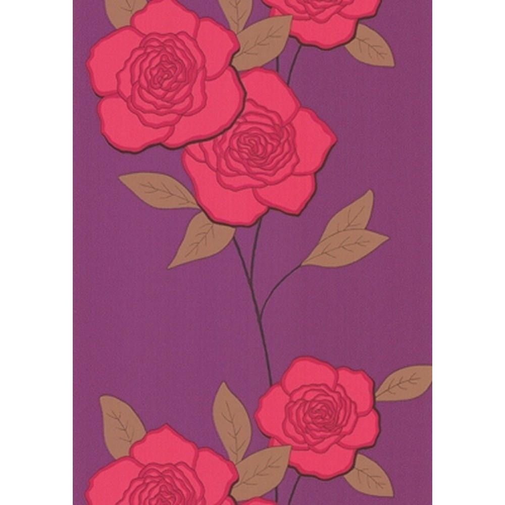 Cole And Son Paper Rose Wallpaper in Red