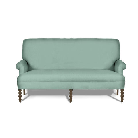 Kravet Tulane Settee In Sea Glass Suede