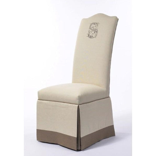 Pebblehill Designs Camel Back Skirted Chair