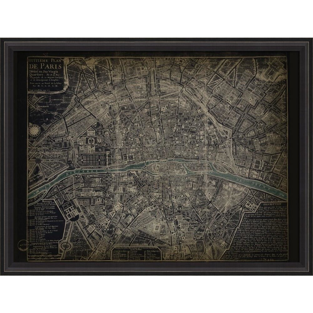Paris Map Art 1