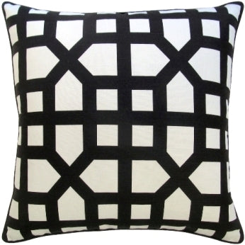 Ryan Studio Avignon Trellis Pillow in Black