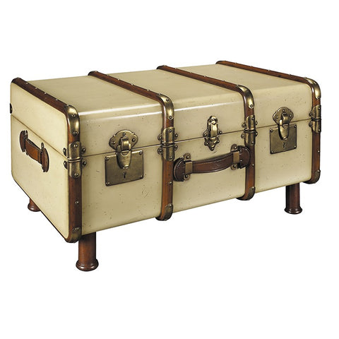 Authentic Models Stateroom Trunk, Ivory