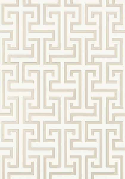 Ming Trail Trellis Wallpaper in Beige