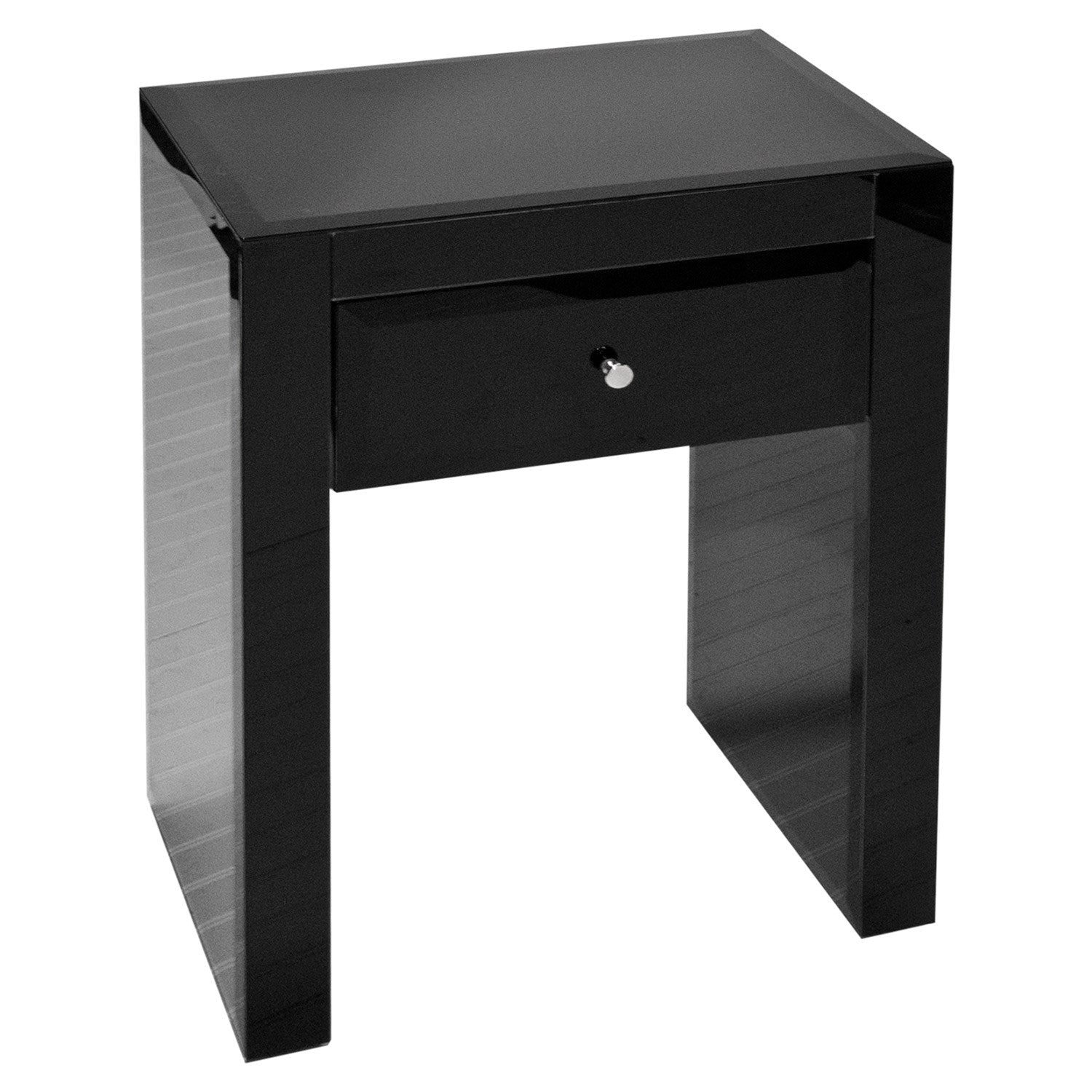 Worlds Away Ginger Nightstand in Black