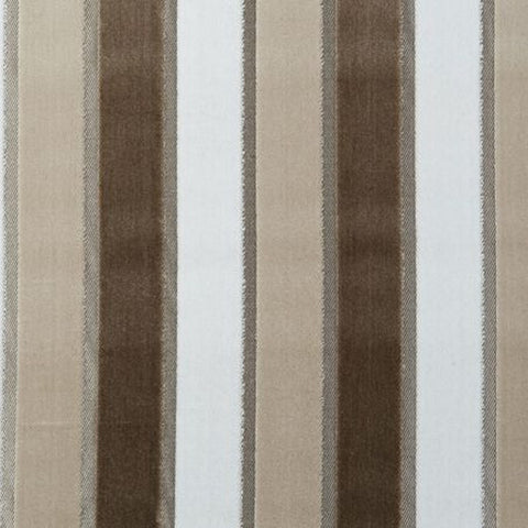 Clarke & Clarke Fabric by the Yard:  Emilio Stripe in Natural