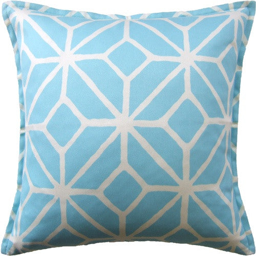 "Ryan Studio Trellis 22"" Pillow In Pool"