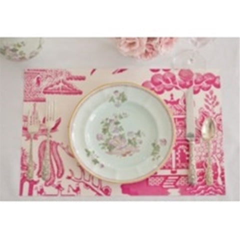 Paper Placemat Pads, Willow, in Peony