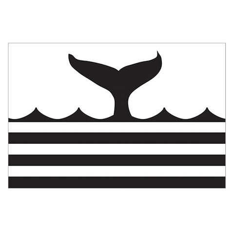 Paper Placemat Pads, Whale Tail, in Black & White