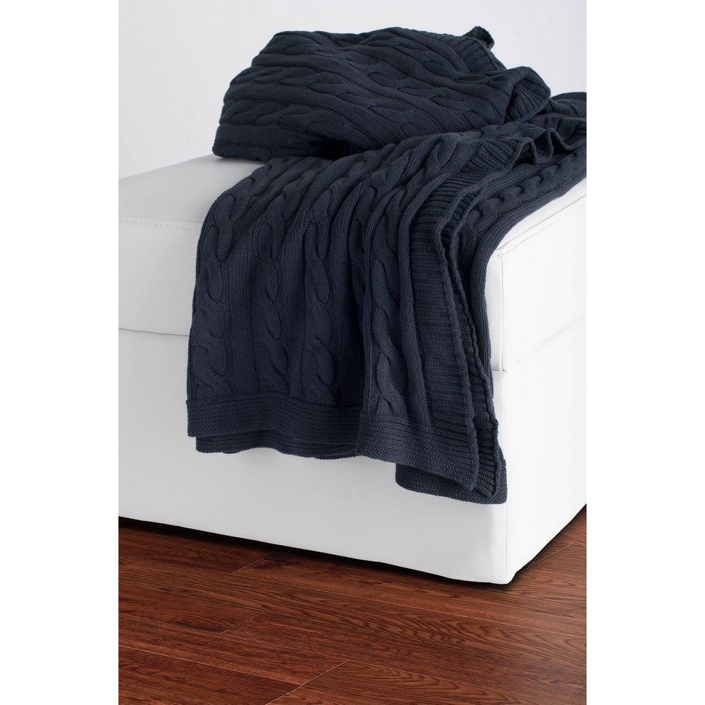 Rizzy Home Throw in Gray