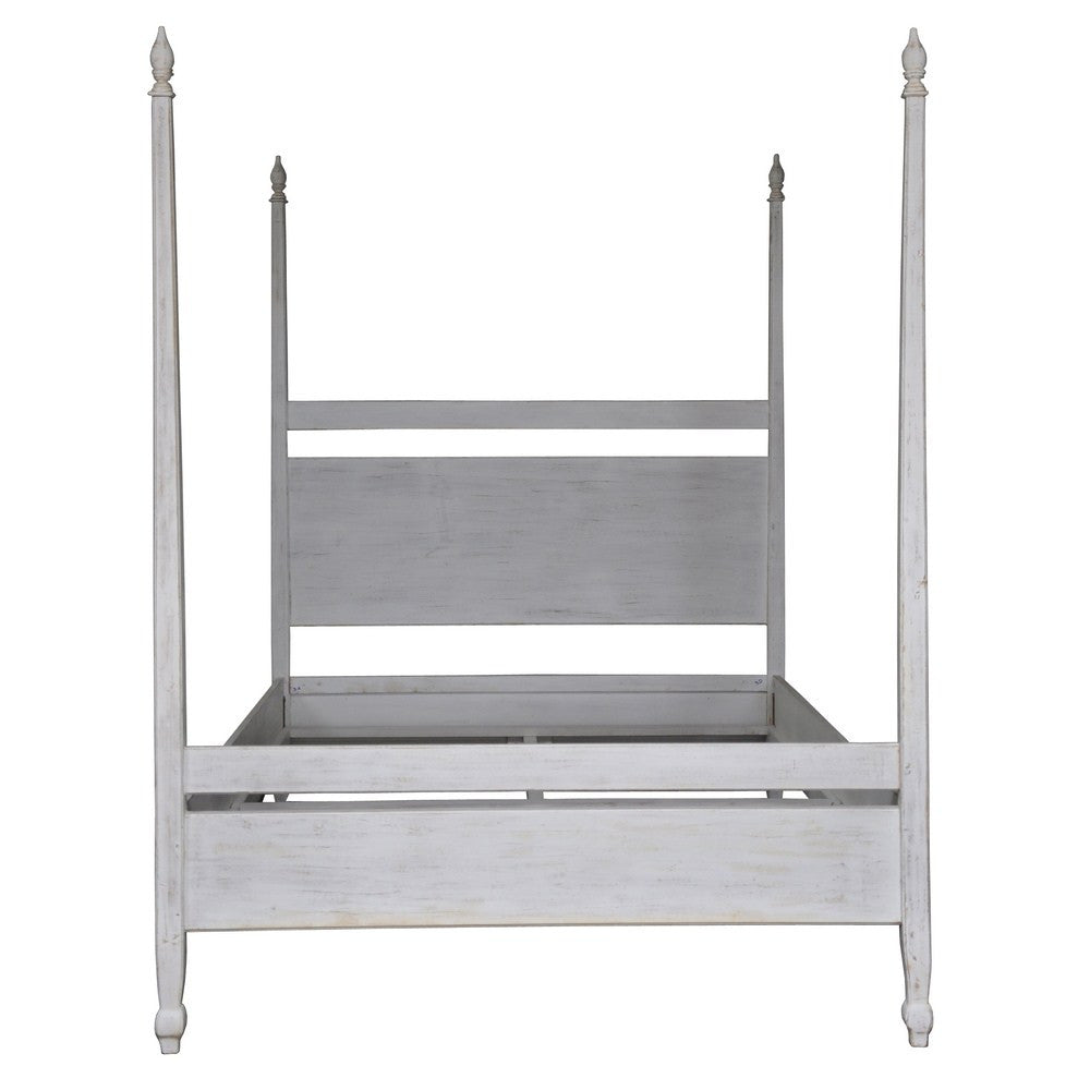 Noir Venice Bed, Queen, White Wash