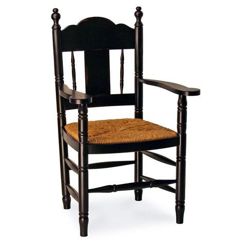 Redford House Nantucket Arm Chair in Black