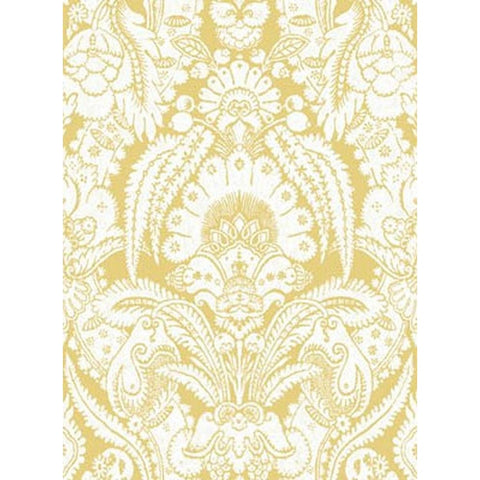 Cole And Son Chatterton Wallpaper in Yellow