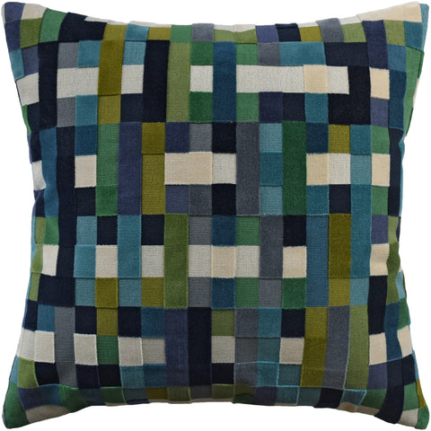 Ryan Studio Abstract Moment Pillow in Peacock
