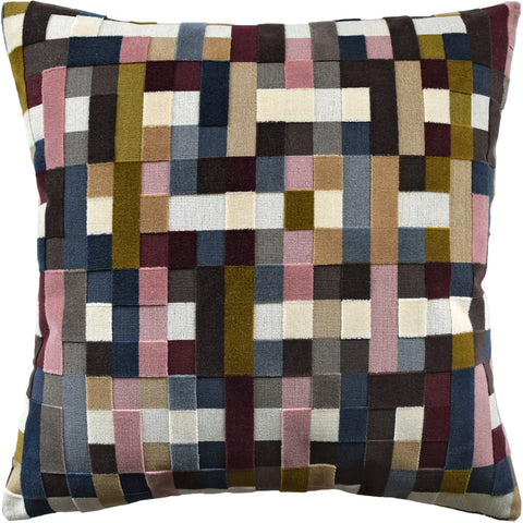 Ryan Studio Abstract Moment Pillow in Rouge