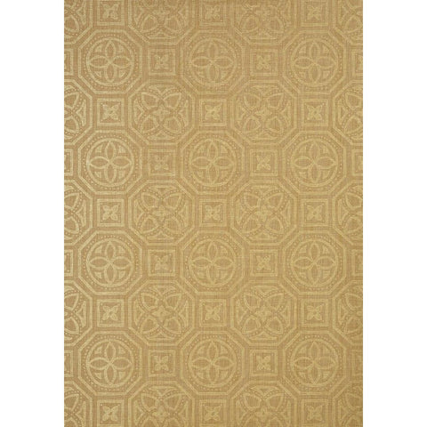Alexander Wallpaper in Metallic Gold on Beige
