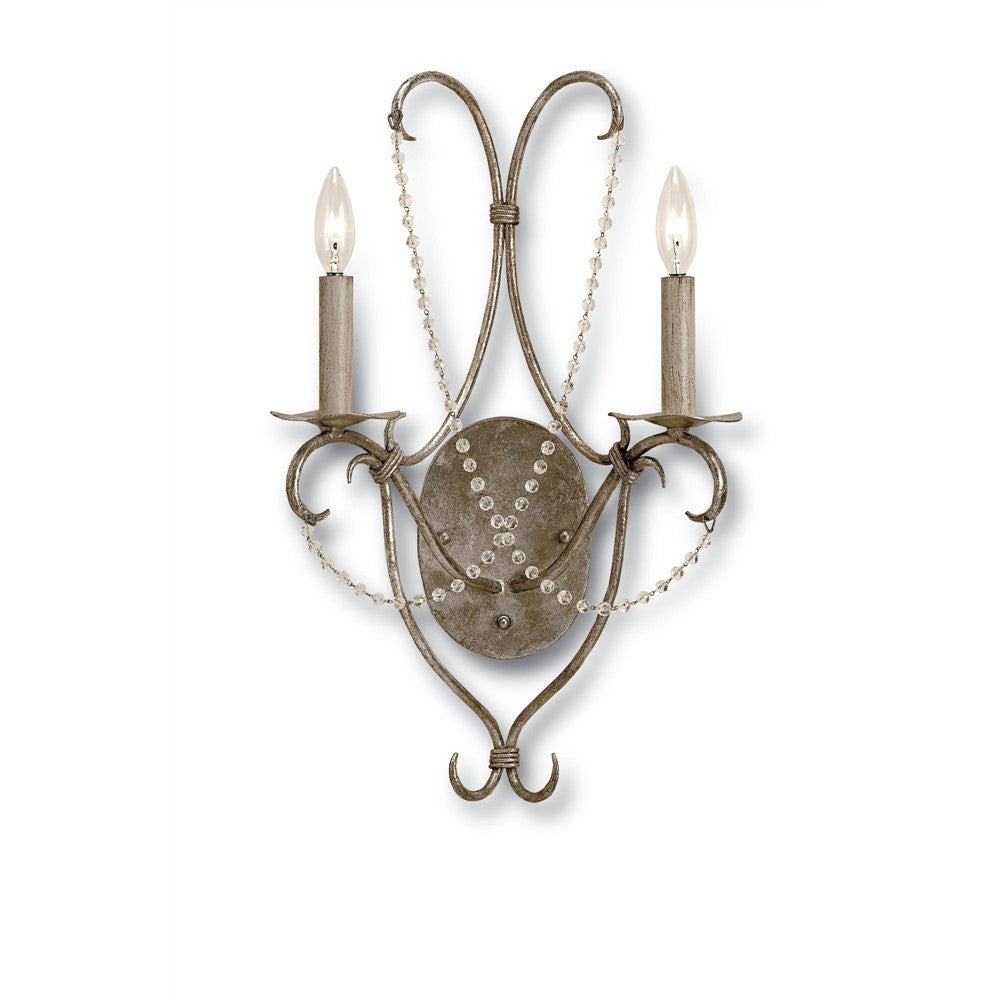 Currey & Company Crystal Lights Wall Sconce