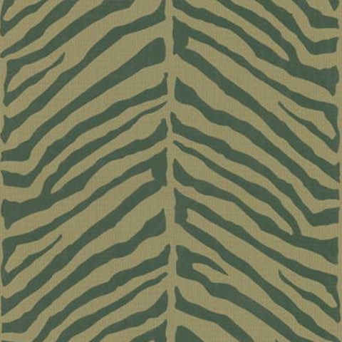 Kravet Zebra Wallpaper In Olive
