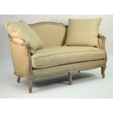 Zentique Maison Settee in Hemp Linen