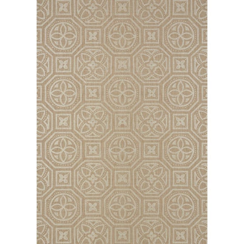 Alexander Wallpaper in Metallic Pewter on Beige