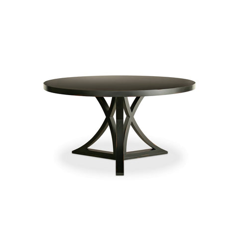 Redford House Floyd Round Dining Table in Black