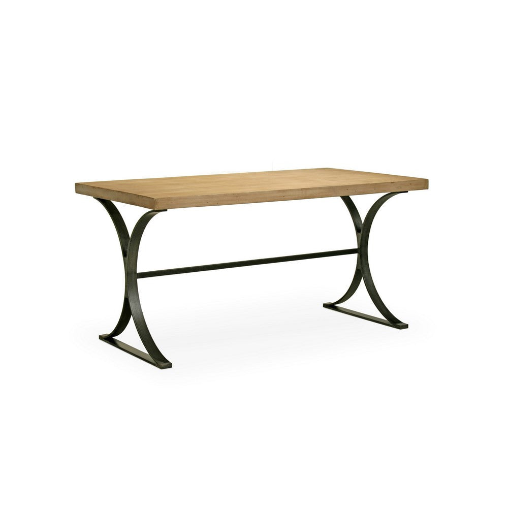 Redford House Quincy Desk in Blackened Iron/Cashew