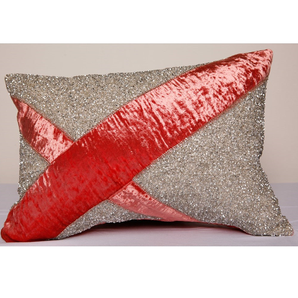 Pyar Lantana Pillow in Coral