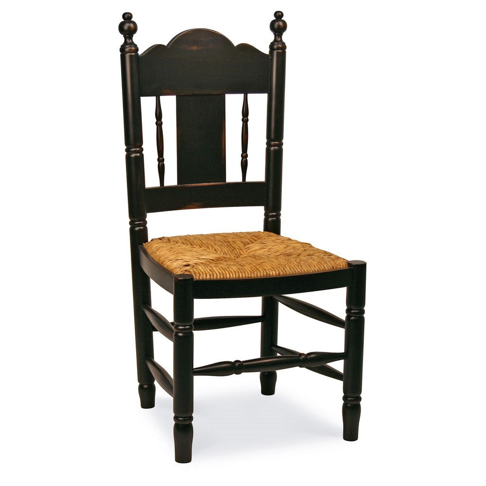 Redford House Nantucket Side Chair in Black