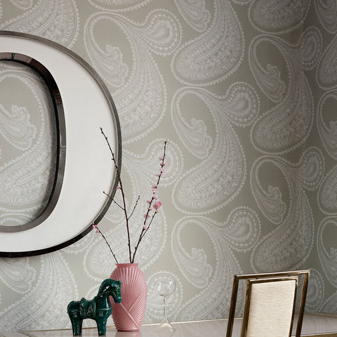 Cole And Son Paisley Wallpaper in Taupe