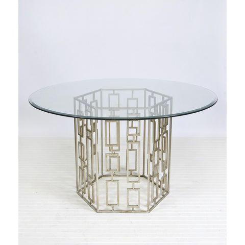Worlds Away Jackson Table in Silver