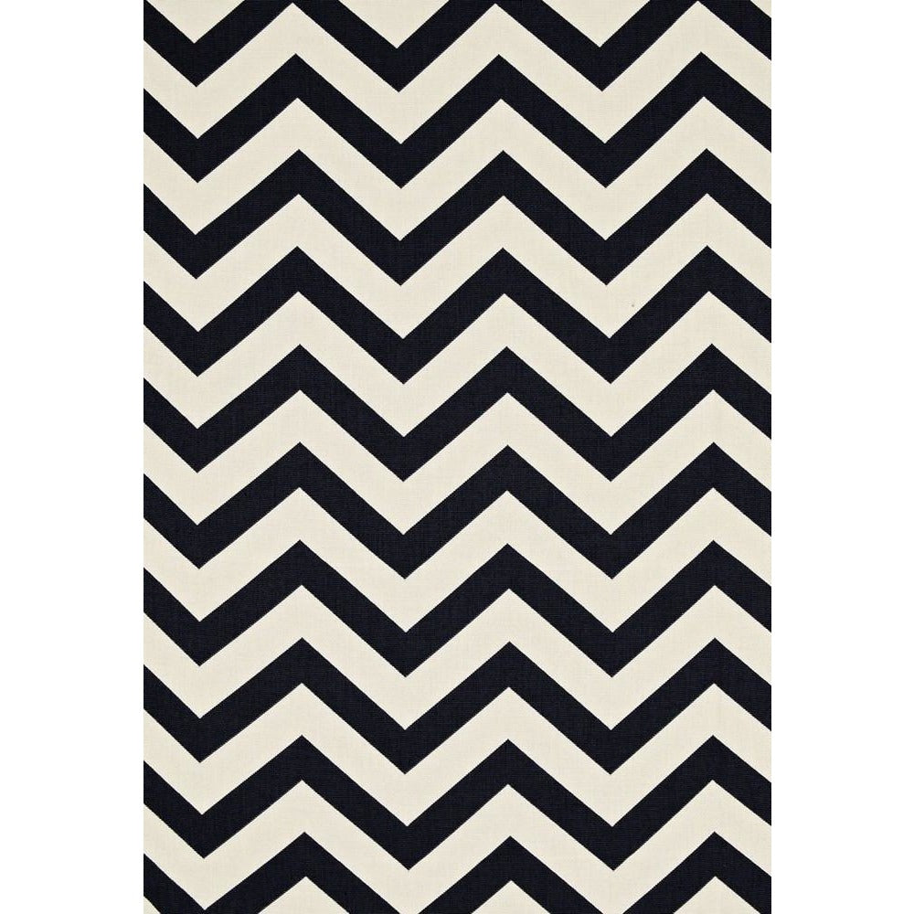 Fabric by the Yard:  Antibes Chevron in Jet