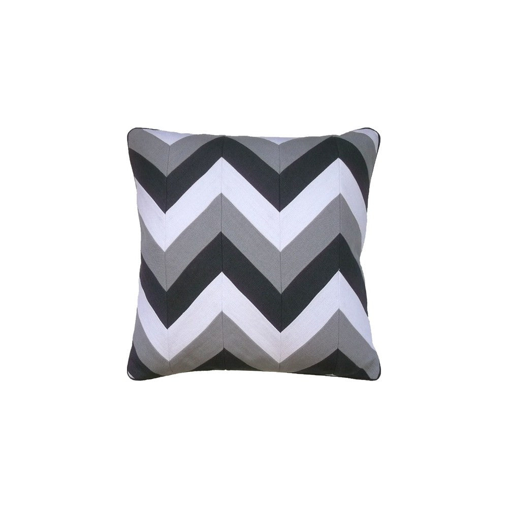 Ryan Studio Slubby Linen Pillow in Steel