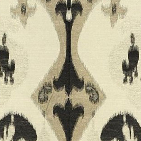 Kravet Fabric by the Yard:  Ikat Zara in Black