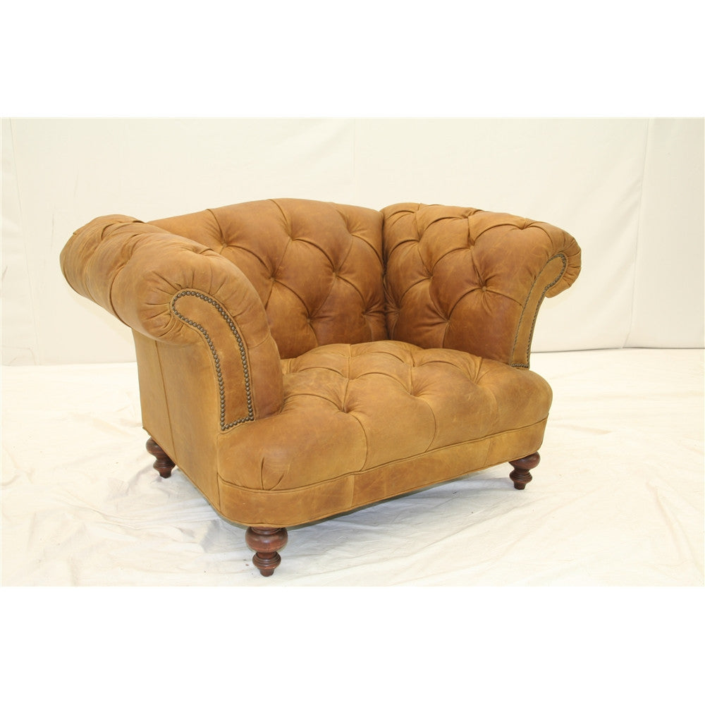 Old Hickory Tannery Borough Chair In Toffee