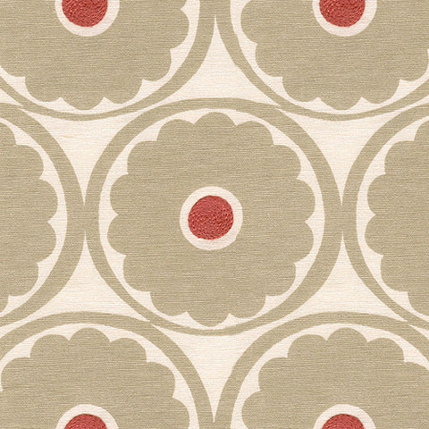 Kravet Fabric By The Yard: Taupe Poppy