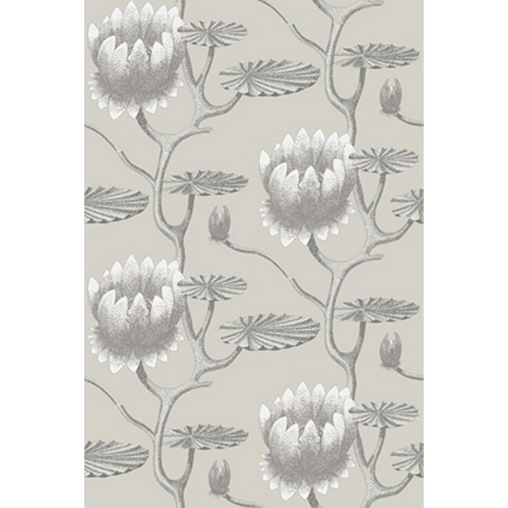 Cole And Son Summer Lily Wallpaper in Taupe/White