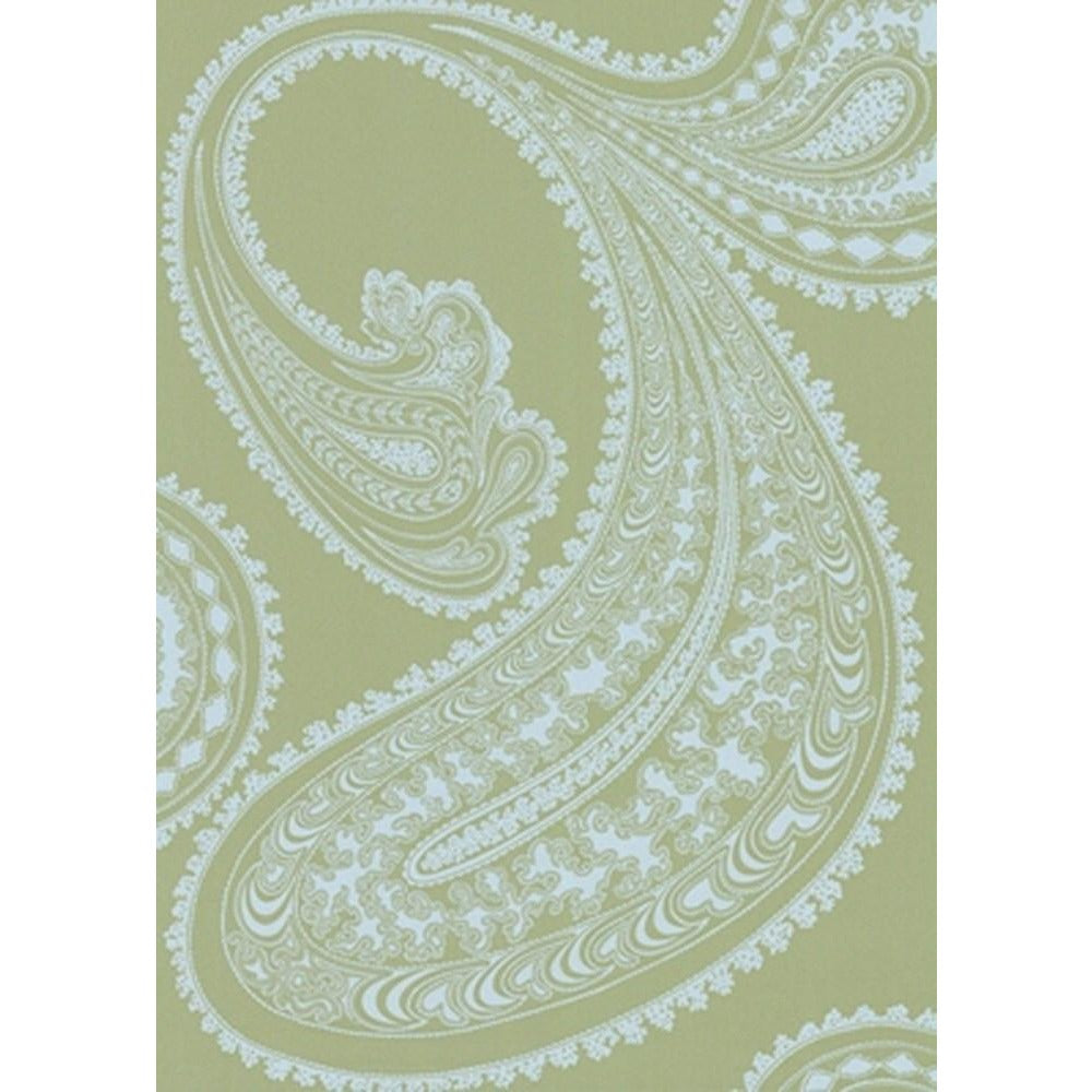 Cole And Son Paisley Wallpaper in Green