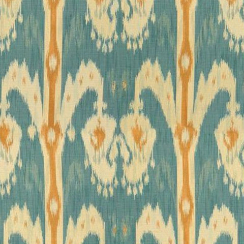 Kravet Fabric by the Yard:  Ikat in Ocean