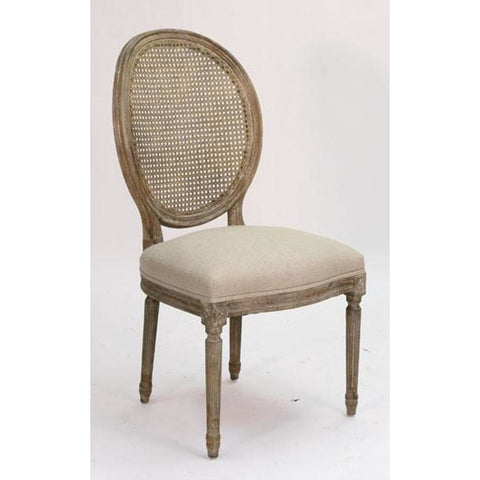 Zentique Medallion Side Chair in Natural