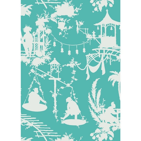 South Sea Wallpaper in Turquoise