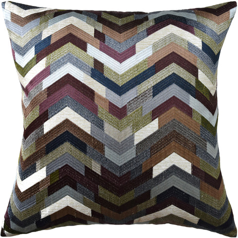 Ryan Studio Catwalk Pillow in Plum and Steel