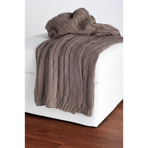Rizzy Home Throw in Mocha
