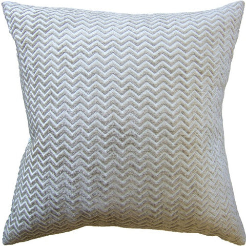 "Ryan Studio Royal Chevron 22"" Pillow In Cloud"