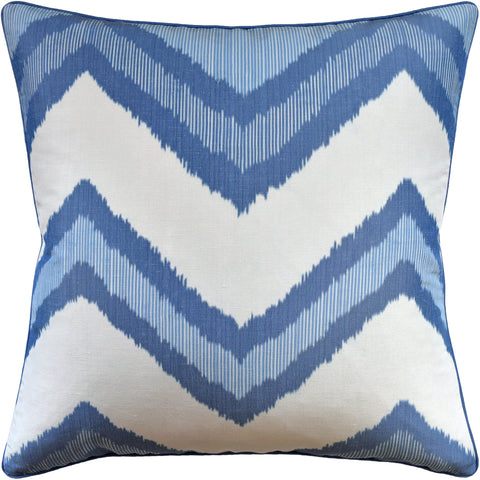 Ryan Studio Pillow Chevron Ikat in Blue