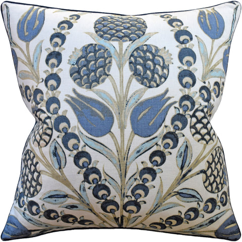 Ryan Studio Cornelia Pillow in Aqua and Blue