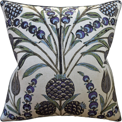 Ryan Studio Cornelia Pillow in Purple and Blue