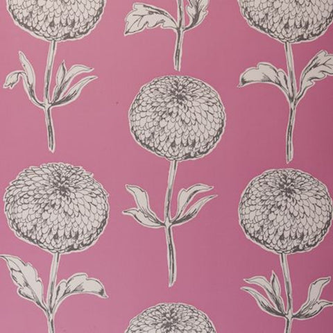 Clarke & Clarke Dahlia Double Roll Wallpaper in Pink